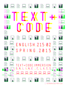 Text + Code (Spring 2015)