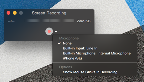 screencap of Quicktime options menu